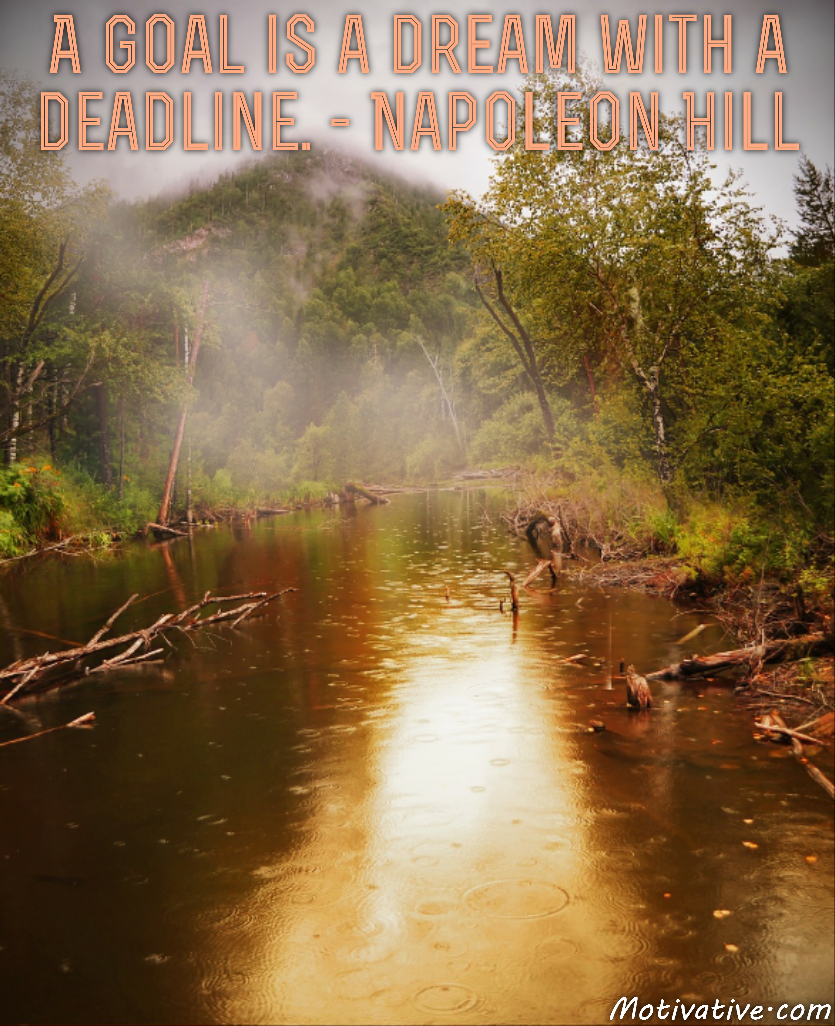 A goal is a dream with a deadline. – Napoleon Hill