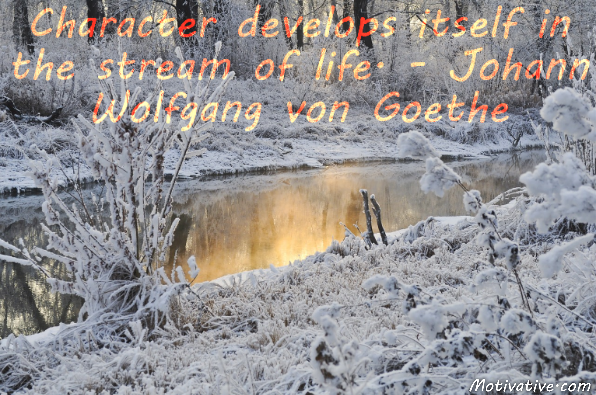 Character develops itself in the stream of life. – Johann Wolfgang von Goethe