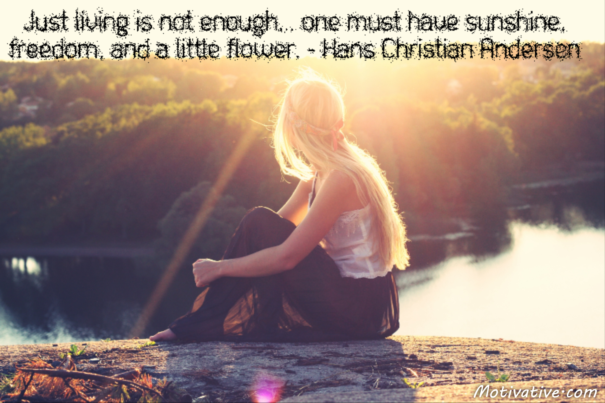 Just living is not enough… one must have sunshine, freedom, and a little flower. – Hans Christian Andersen