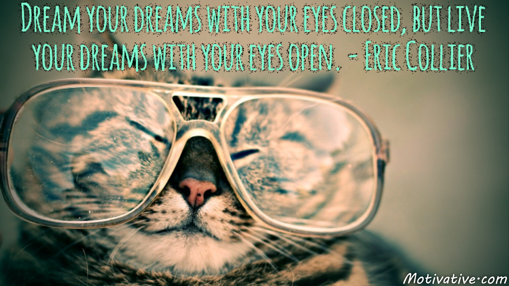Dream your dreams with your eyes closed, but live your dreams with your eyes open. – Eric Collier