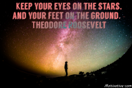 Keep your eyes on the stars, and your feet on the ground. – Theodore Roosevelt