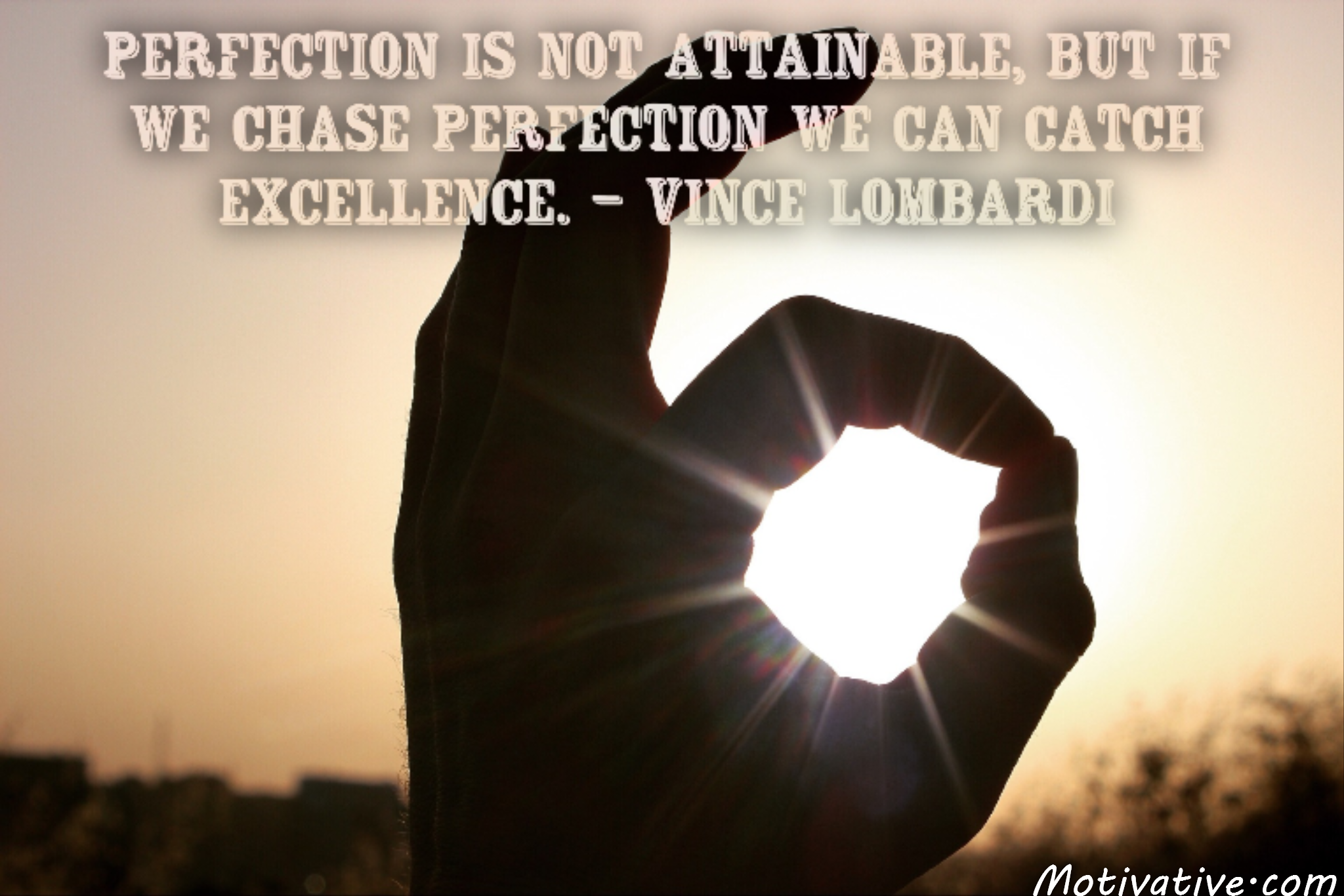 Perfection is not attainable, but if we chase perfection we can catch excellence. – Vince Lombardi