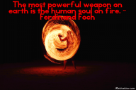 The most powerful weapon on earth is the human soul on fire. – Ferdinand Foch