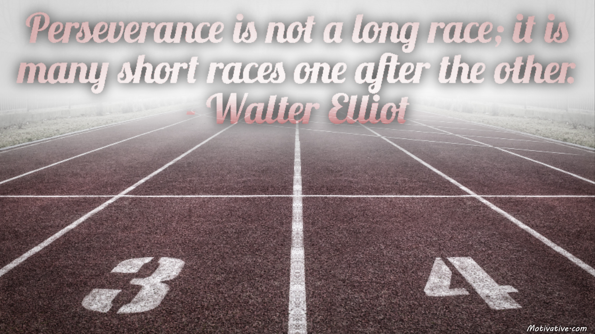 Perseverance is not a long race; it is many short races one after the other. – Walter Elliot